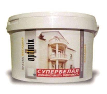 """Изображение Краска """"Фасадная"""" водно-дисперсионная акриловая Белая. База А. 7 кг"""