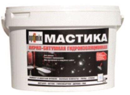 """Изображение Мастика акрил - битумная """"гидроизоляционная"""". 10 кг"""