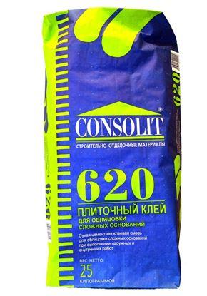 Изображение Клей плиточный - 620. Для сложных оснований. 25 кг