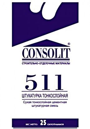 Изображение Штукатурка тонкослойная - 511. 25 кг